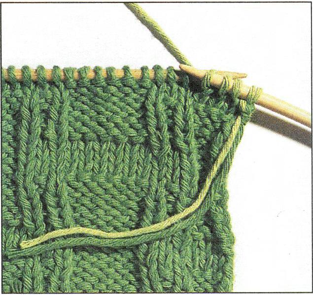 Как убрать кончики ниток при вязании