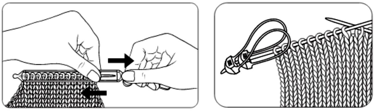 Отложить петли в вязании 3