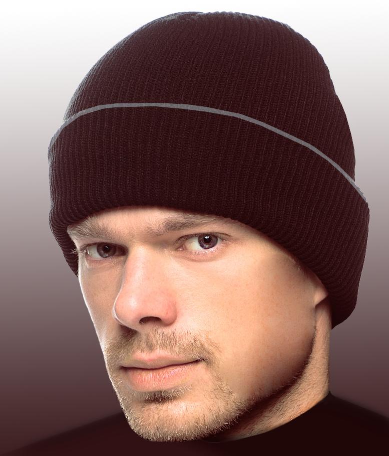 мужская шапка с двойным отворотом хозяйка